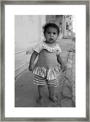 Hello Who Are You Framed Print by Jez C Self