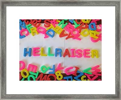 Hellraiser - Magnetic Letters Framed Print