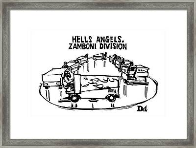 Hells Angels Framed Print by Drew Dernavich