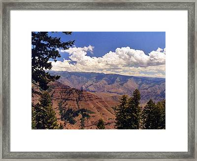 Framed Print featuring the photograph Hells Canyon by Debra Kaye McKrill