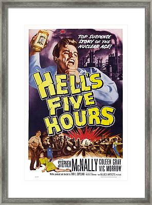 Hells Five Hours, Us Poster, Vic Morrow Framed Print