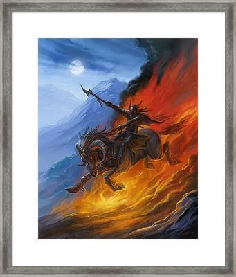 Hell's Horseman Framed Print by Alan Lathwell