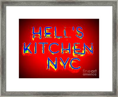 Hell's Kitchen Nyc Framed Print