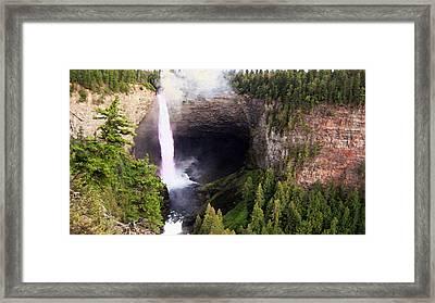 Helmcken Falls Bc Framed Print by Kathy Bassett