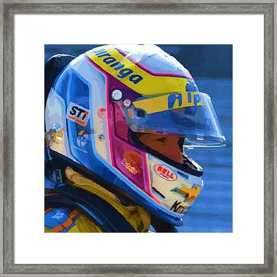 Helmet Of A Female Hero Framed Print