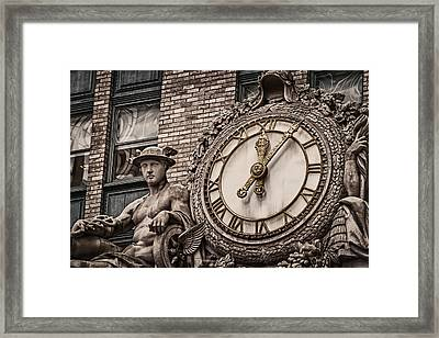 Framed Print featuring the photograph Helmsley Building Clock by James Howe