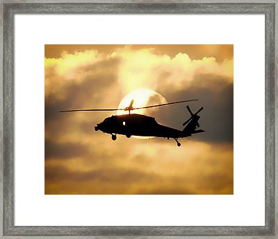 Helo Sunset Framed Print by Mountain Dreams