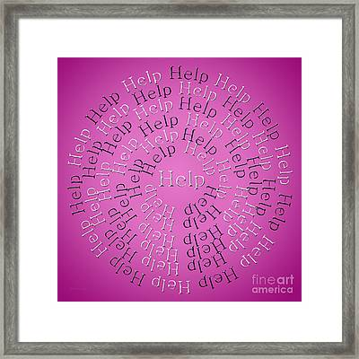 Help 3 Framed Print by Andee Design