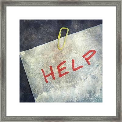 Help Framed Print by Bernard Jaubert
