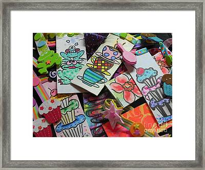 Help Children Read With Book Marks Hand Painted Two Framed Print