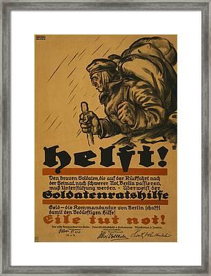 Help Framed Print by Louis Oppenheim