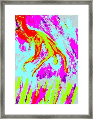 Help Me I Am Falling Into The Burning Hell  Framed Print