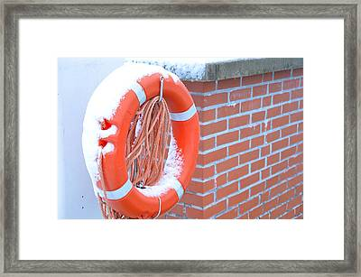 Help Framed Print by Mila Andretich