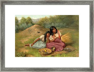 Help On The Dow Framed Print