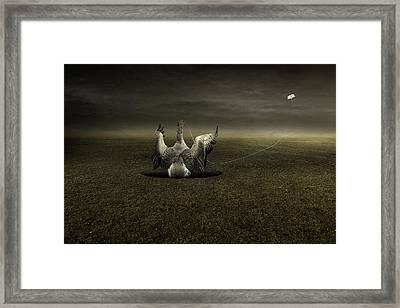 Help On The Way Framed Print by Johan Lilja