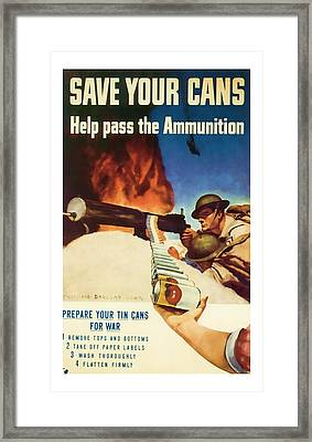 Help Pass The Ammunition - World War 2 Art Framed Print