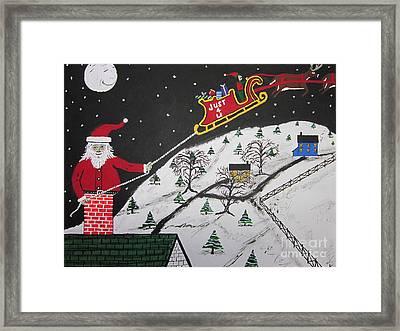 Help Santa's Stuck Framed Print