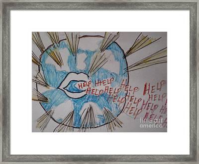 Help The World Framed Print by Ann Fellows