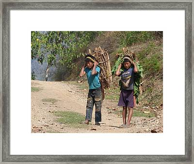 Helpers Framed Print by Louise Peardon