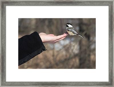 Helping Hand Framed Print