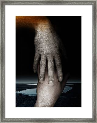 Helping Hand Framed Print by Johan Lilja