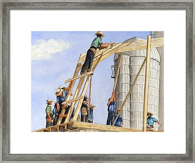 Helping Hands Helping Hearts Framed Print