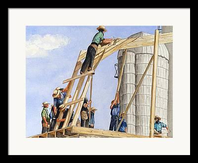 Amish Farms Framed Prints