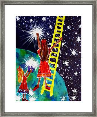 Helping Hands Framed Print by Jackie Carpenter