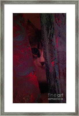 Framed Print featuring the photograph Helping In The Art Studio by Jacqueline McReynolds