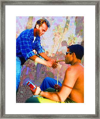 Helping Out A Friend Framed Print by Alice Ramirez