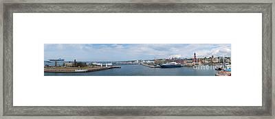 Helsingborg Panorama 01 Framed Print by Antony McAulay