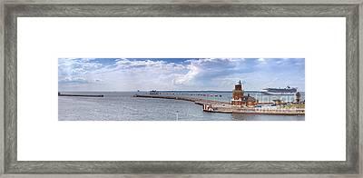 Helsingborg Port Panorama Framed Print by Antony McAulay