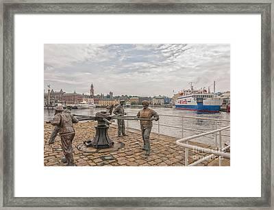 Helsingborg Sailors Monument Framed Print by Antony McAulay