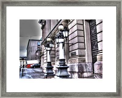Helsinki Street Today Framed Print