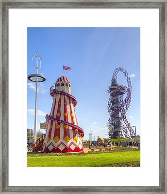 Helter-skelter And Orbit Framed Print by David French
