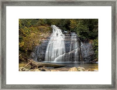 Helton Creek Falls Framed Print by Anna Rumiantseva