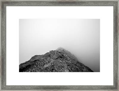 Framed Print featuring the digital art Helvellyn by Mike Taylor