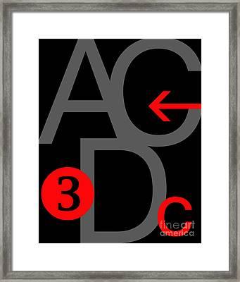 Helvetica Framed Print by Edmund Nagele