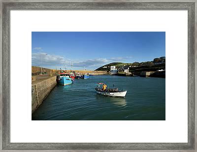 Helvick Harbour, On The An Rinn Ring Framed Print