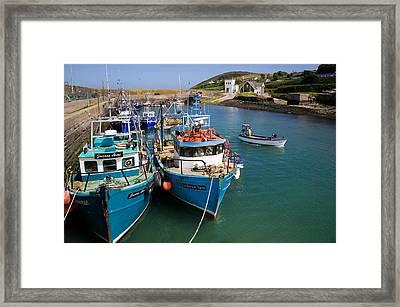 Helvick Harbour, Ring Gaeltacht Region Framed Print