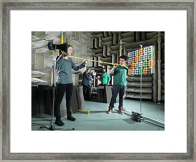 Hemi-anechoic Chamber Research Framed Print by Andrew Brookes, National Physical Laboratory