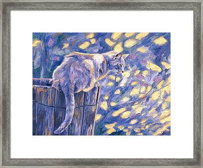 Hemingway Cat Framed Print by Lucie Bilodeau