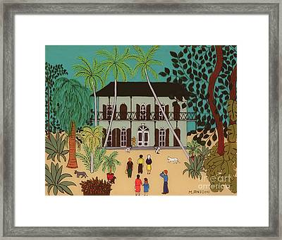 Hemingways House Key West Florida Framed Print by Micaela Antohi