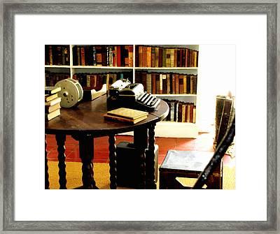 Hemingway's Studio Ernest Hemingway Key West Framed Print