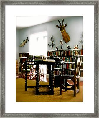 Hemingway's Studio II  Ernest Hemingway Framed Print by Iconic Images Art Gallery David Pucciarelli