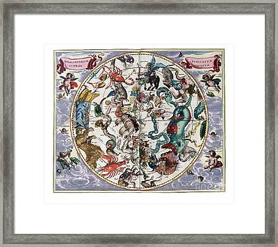 Hemispharium Astraule Framed Print by Johannes Hevelius