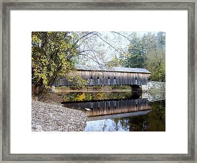 Hemlock Covered Bridge Framed Print by Catherine Gagne