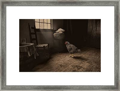 Trapped Framed Print by Robin-Lee Vieira