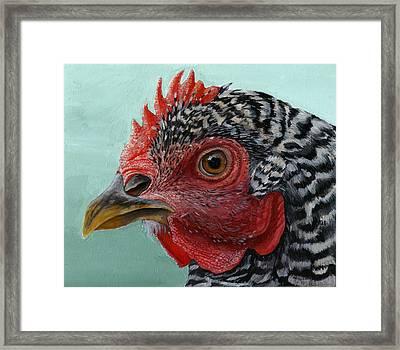 Hen Framed Print by Michael Trujillo