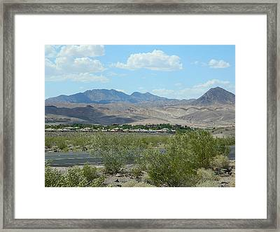 Framed Print featuring the photograph Henderson Nevada Desert by Emmy Marie Vickers